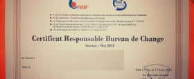 Responsable bureau de change